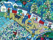 """""""中国精神·中国梦""""全国农民画创作展在万安举行"""